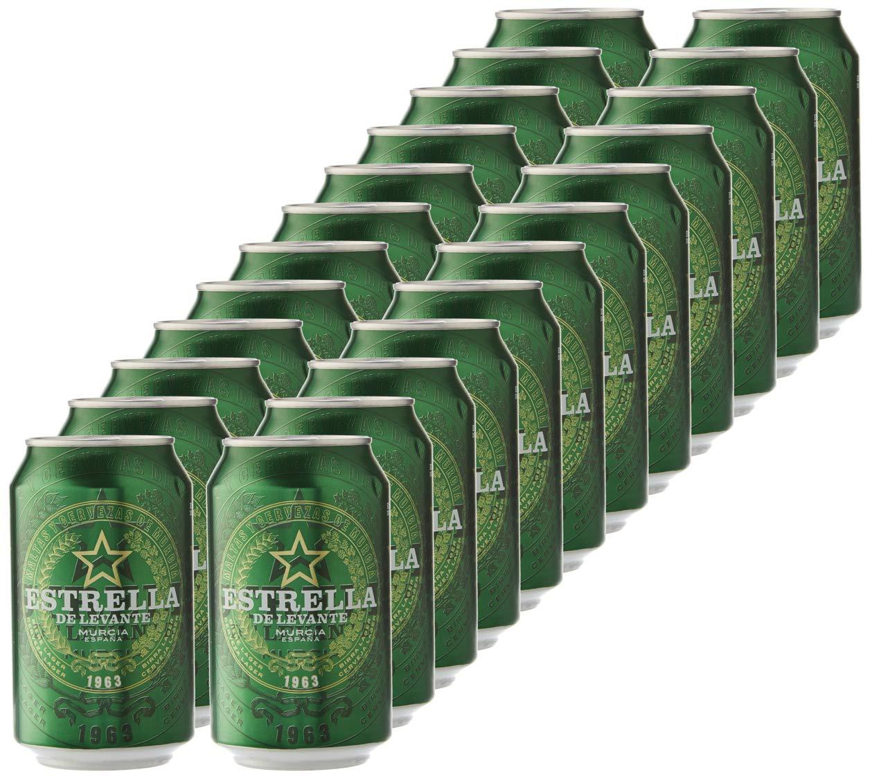 Estrella Levante Cerveza - Caja de 24 Latas x 330 ml - Total: 7.92 L