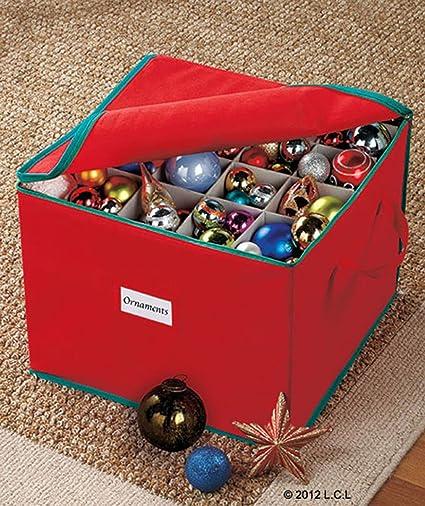 Beau 75 Ornament Organizer Storage Box Bin Christmas Tree Bulb Holiday