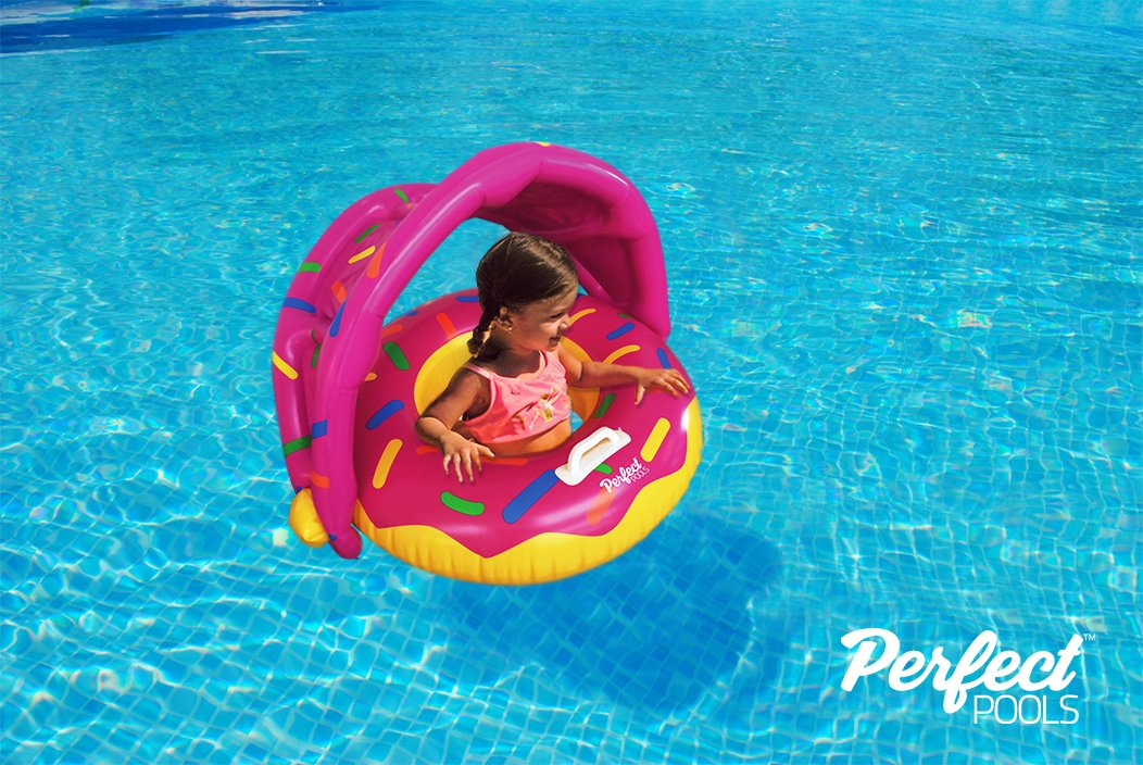 Swimming Pool Donut Float Perfect Pools Official Toddler Donut Seat