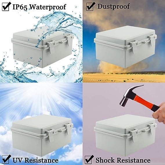 Sunnyglade ABS Plastic Dustproof Waterproof IP65 Junction Box Universal Durable