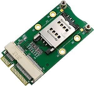 SUPERPLUS Mini PCI-E Adapter with SIM Card Slot for 3G/4G,WWAN LTE,GPS Card Clamshell SIM Card Holder
