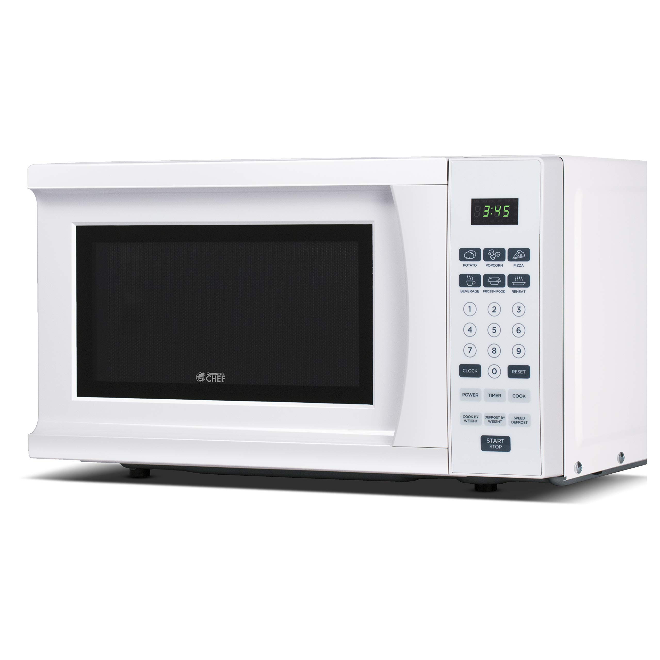 Commercial Chef CHM770W 700 Watt Counter Top Microwave Oven, 0.7 Cubic Feet, White Cabinet by Westinghouse