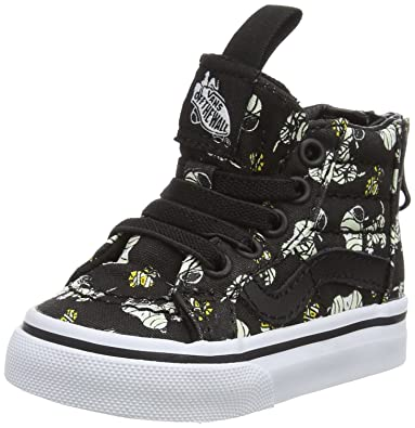 b115a79705 Vans x Peanuts SK8 Hi Zip Glow in The Dark Mummies Toddlers Sneakers (4 M