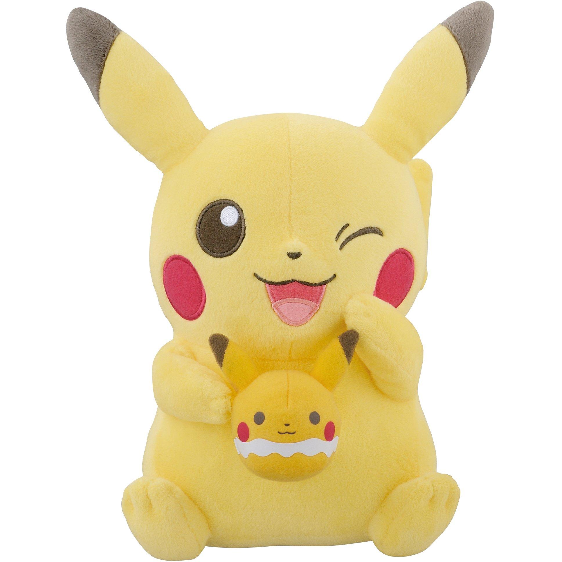 Banpresto Pikachu [Holding a Pikachu Tea Cup]: ~9'' Pokemon x Pokemon Tea Party Plush + 1 Free Pokemon Trading Card Bundle (37074) by Banpresto