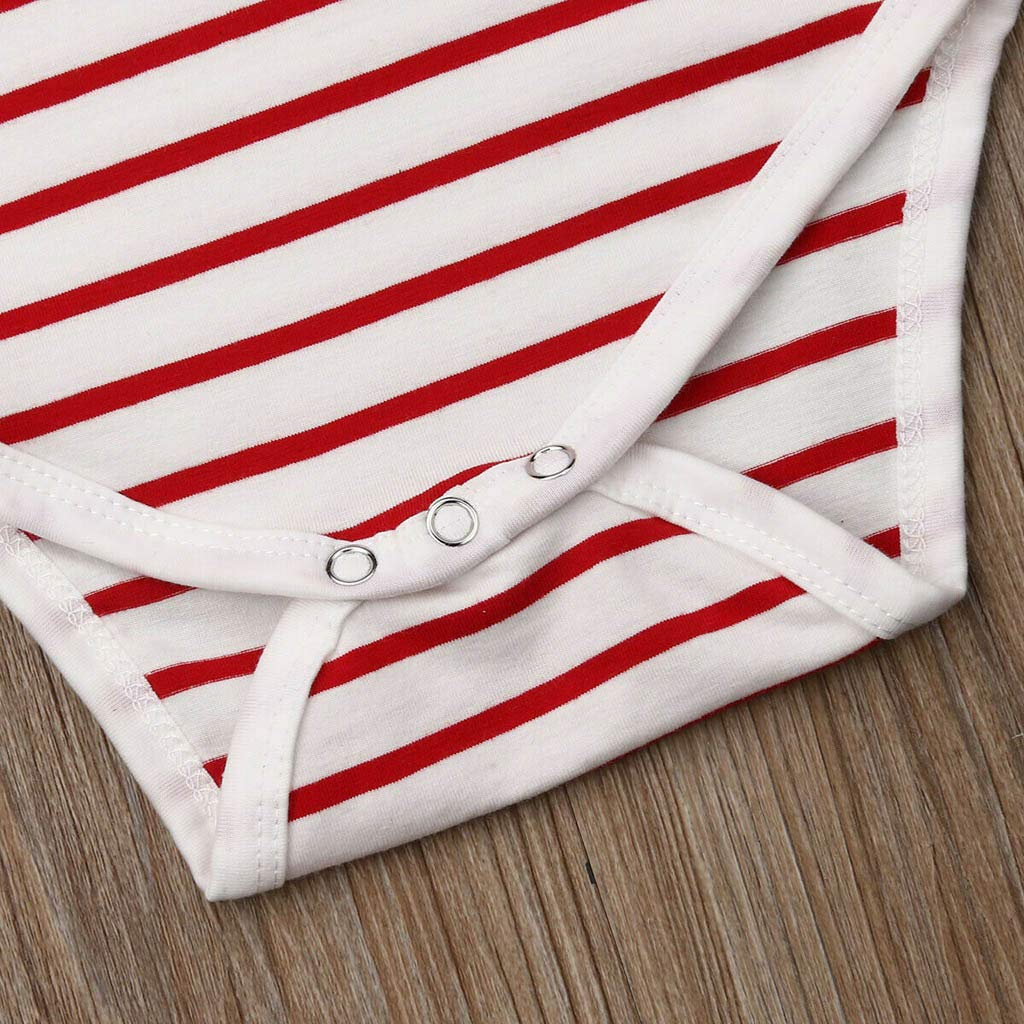 Newborn Infant Baby Girl Boy Jumpsuit Bodysuit Straps Letter Romper WOCACHI Toddler Baby Girls Clothes