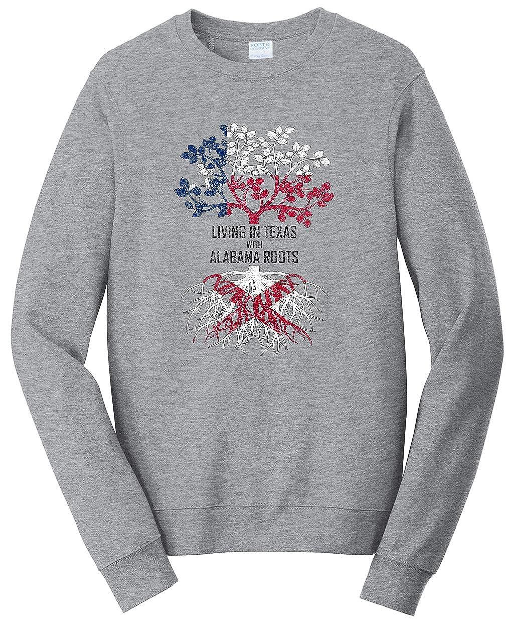 Tenacitee Girls Living in New York with Texas Roots Hooded Sweatshirt