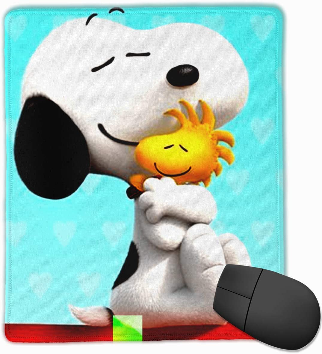 Anti-Slip Mouse Pad Snoopy Hugging Woodstock Premium Mouse Pad for Desktop Laptop Keyboard Consoles