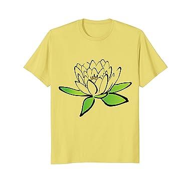 Amazon pretty lotus flower t shirt delicate flower buddhist mens pretty lotus flower t shirt delicate flower buddhist symbol 2xl lemon mightylinksfo