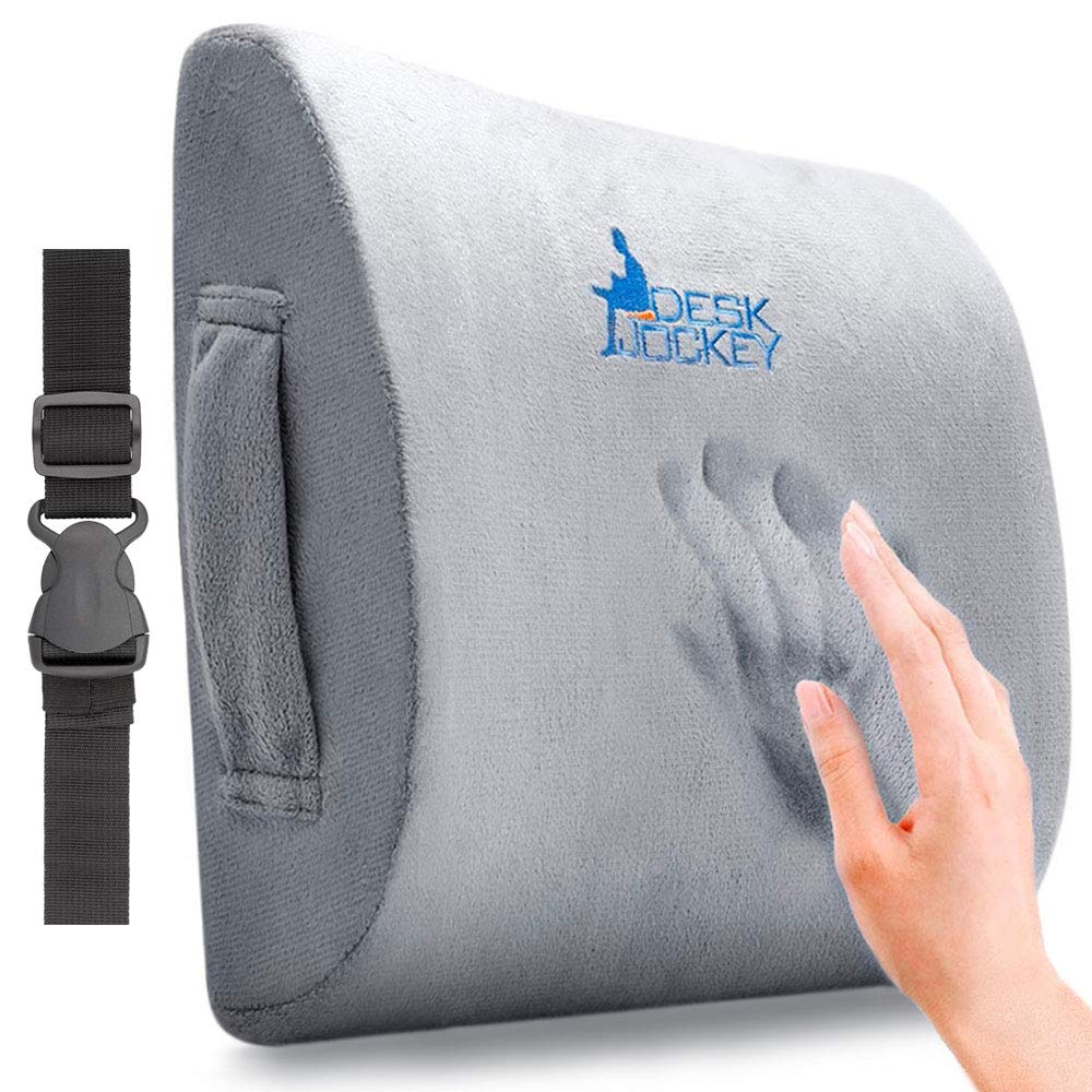 Desk Jockey, Cuscino Supporto Schiena – Cuscino Supporto Lombare Terapeutico di Prima Qualità Per Dolore Lombare, Sedile di Guida 4332459765