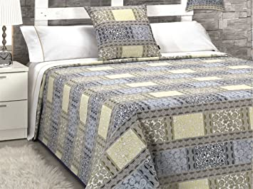 Canete Tagesdecke Umhang Und Kissen Bett Boke 90 Blau Modern Bett