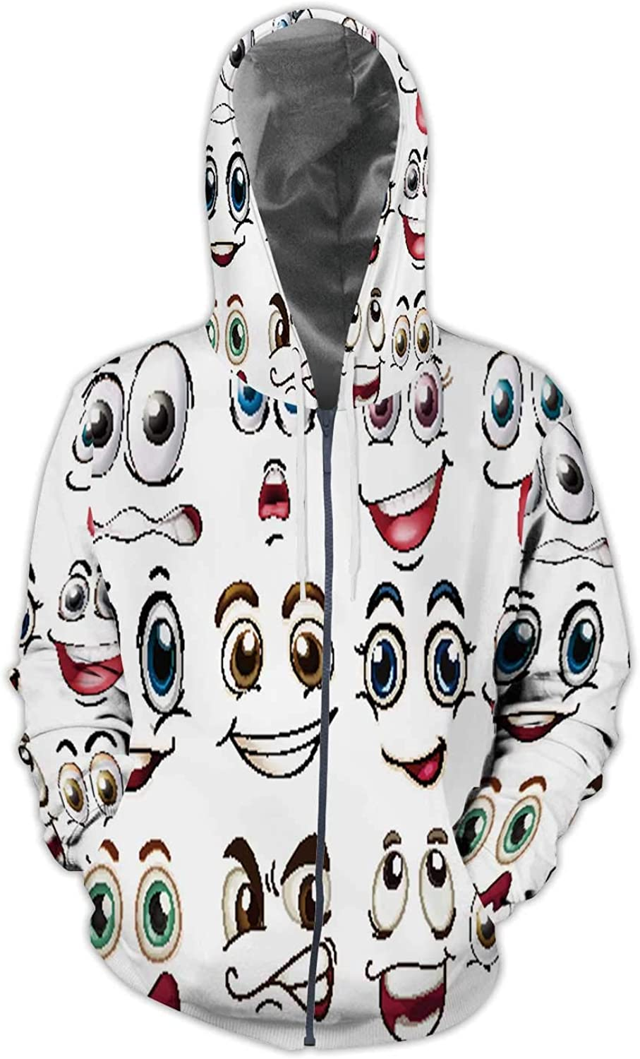 AA Art Colorful Colorful.Hand Drawing on Paper,Ladies Full Zip Fleece with Pocket S