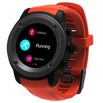 Hombres Mujeres deporte reloj GPS, pantalla táctil GPS Running relojes muñeca corazón monitor de actividad Deporte inteligente ...