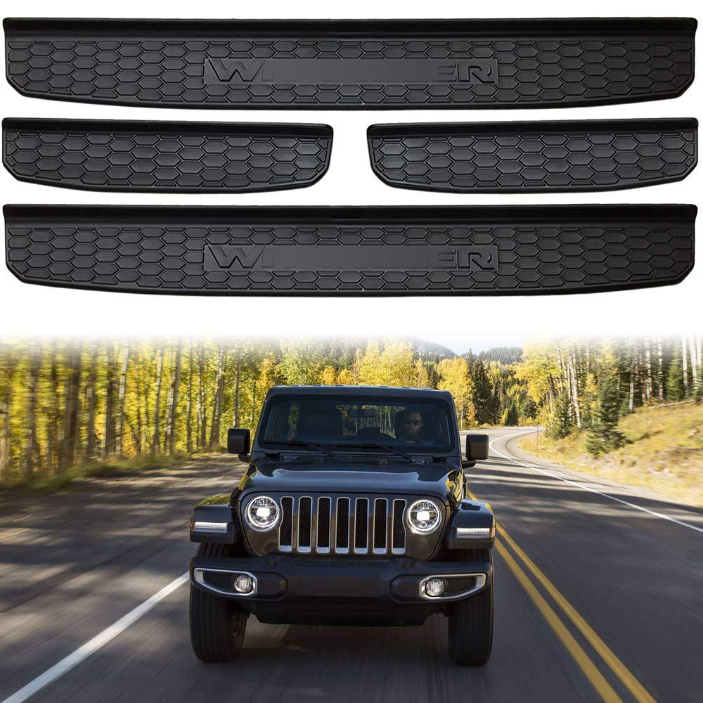 XBEEK 2018 Jeep Wrangler JL Accessories 4 Door New Body Style Black Model Sill Guards Entry Guards (4 Door - JL Model)