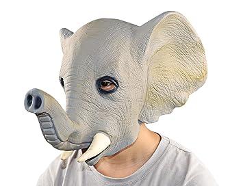 XIAO MO GU látex Halloween Decoración de disfraces para adultos y niños Animal cabeza máscara gato