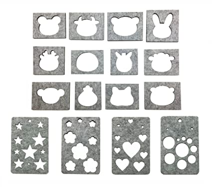 Amazon.com: Hyamass 12 Animal Head + 4 Geometry DIY Felt Template ...