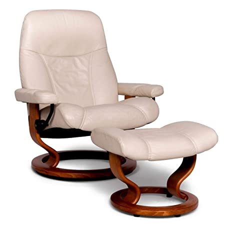 Stressless Consul L Designer Leather Armchair with Stool ...