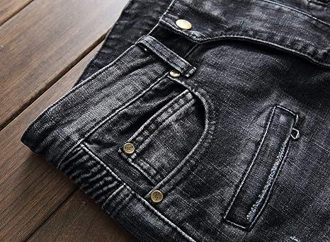 Amazon.com: AITITIA pantalones vaqueros de corte recto ...