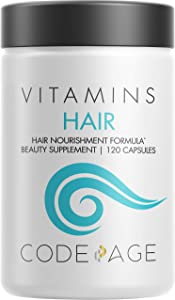 Hair Vitamins, Biotin & Keratin Supplement, Collagen for Healthy Hair Growth, Shine, Volume, Length, Thickness, Texture, Strength Support, Weak, Gray, Brittle, Thinning Hair Care Pills – 120 Capsules