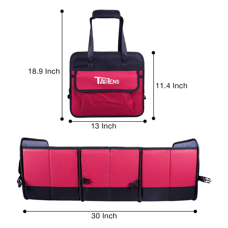 TaoTens Car Trunk Organizer,Auto Cargo Storage Bag with Anti-Slip Straps Collapsible Vehicle Organizer Divider Storage Totes W// 3-Compartment Organizers for SUV Truck Auto Vehicle Car Auto Minivan 4350406473