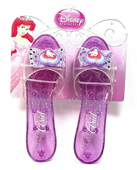 a6933cbb869ba5 Image Unavailable. Image not available for. Color  Disney Princess  Collection Ariel Shoes Slippers Clear Purple with Sparkles for Children ...