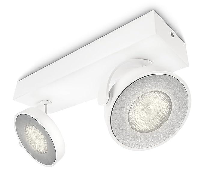 Philips myLiving Clockwork - Barra de 2 focos LED, iluminación interior, aluminio, color blanco luz blanca cálida: Amazon.es: Iluminación
