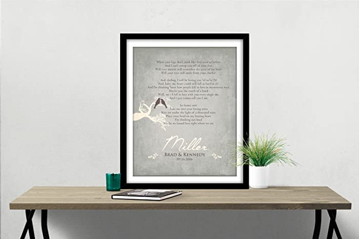 Amazon Com Wedding Vow Art First 1st Paper Anniversary Gift For