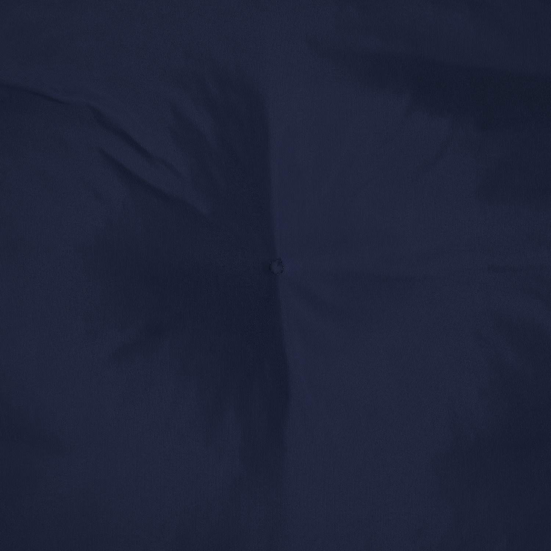 Beautissu Bench Pad Flair BK Comfortable Cushion 100 x 50 x 50 cm Swing or 2 Seater Bench Cushion Dark Blue
