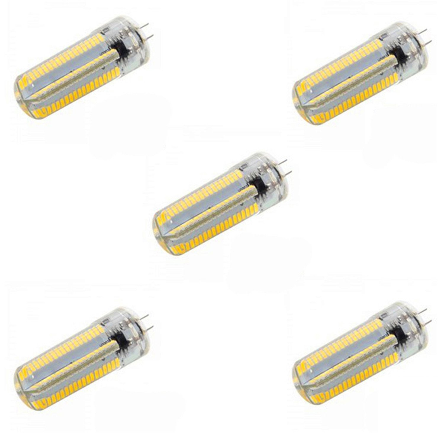 Warm White LL 220V 5 Watts G4 Dimmable 3014 SMD LED Light Cool White 40W50W Halogen Replacement for Chandelier Crystal Ceiling Lamp Light in Living Room Kitchen Bath Room (Pack of 5) (Size   Warm White)