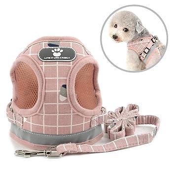 smalllee_lucky_store plaid arnés con correa para perros pequeños y ...
