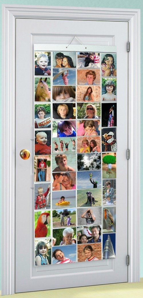 Thinking Gifts Picture Pockets Photo Hanging Display, 80 photos in 40 pockets, Mega, Clear, 1 unit (PPMG) Size AA Mega