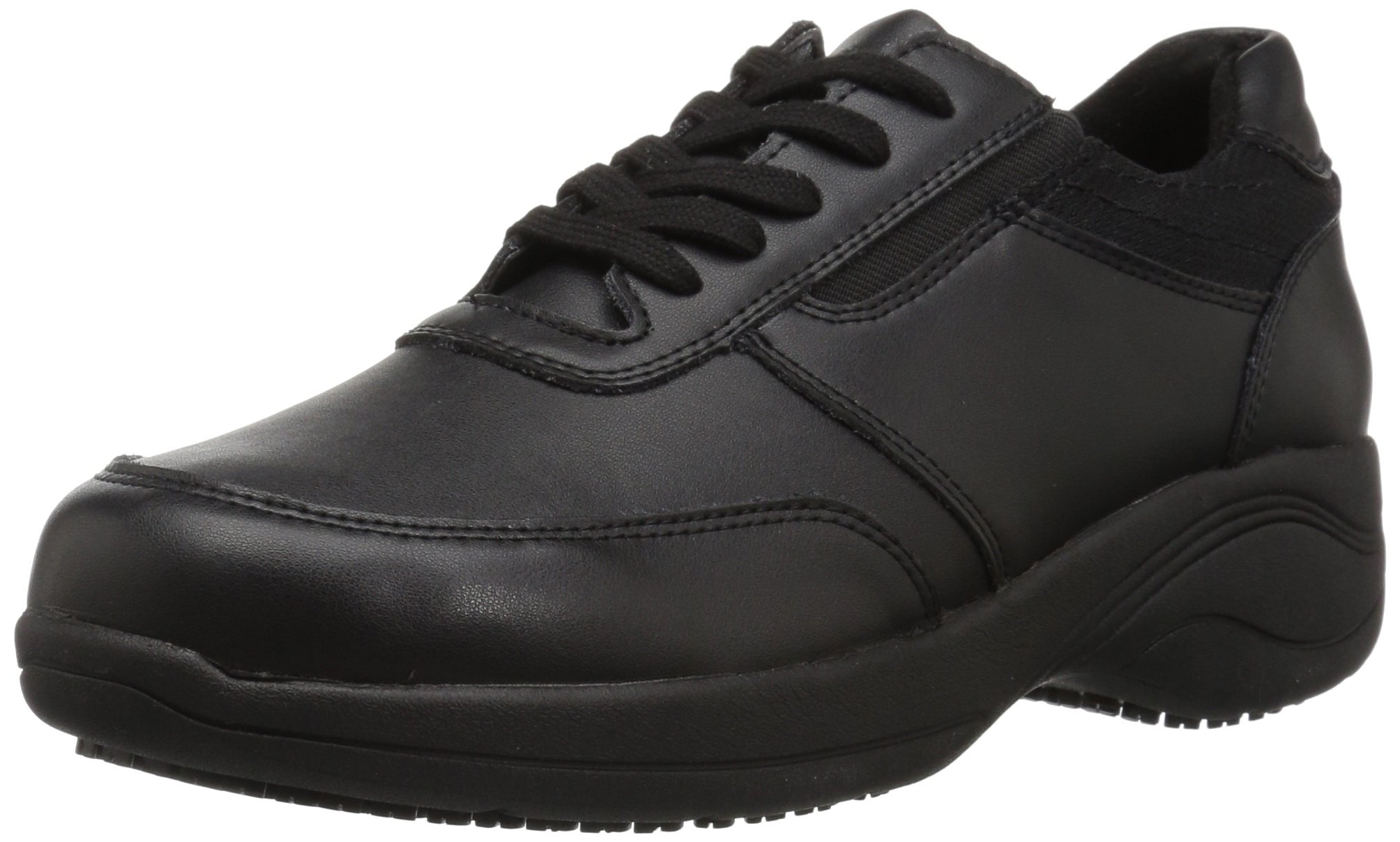 Easy Works Women's Middy Health Care Professional Shoe, Black/mesh, 9 2W US by Easy Works