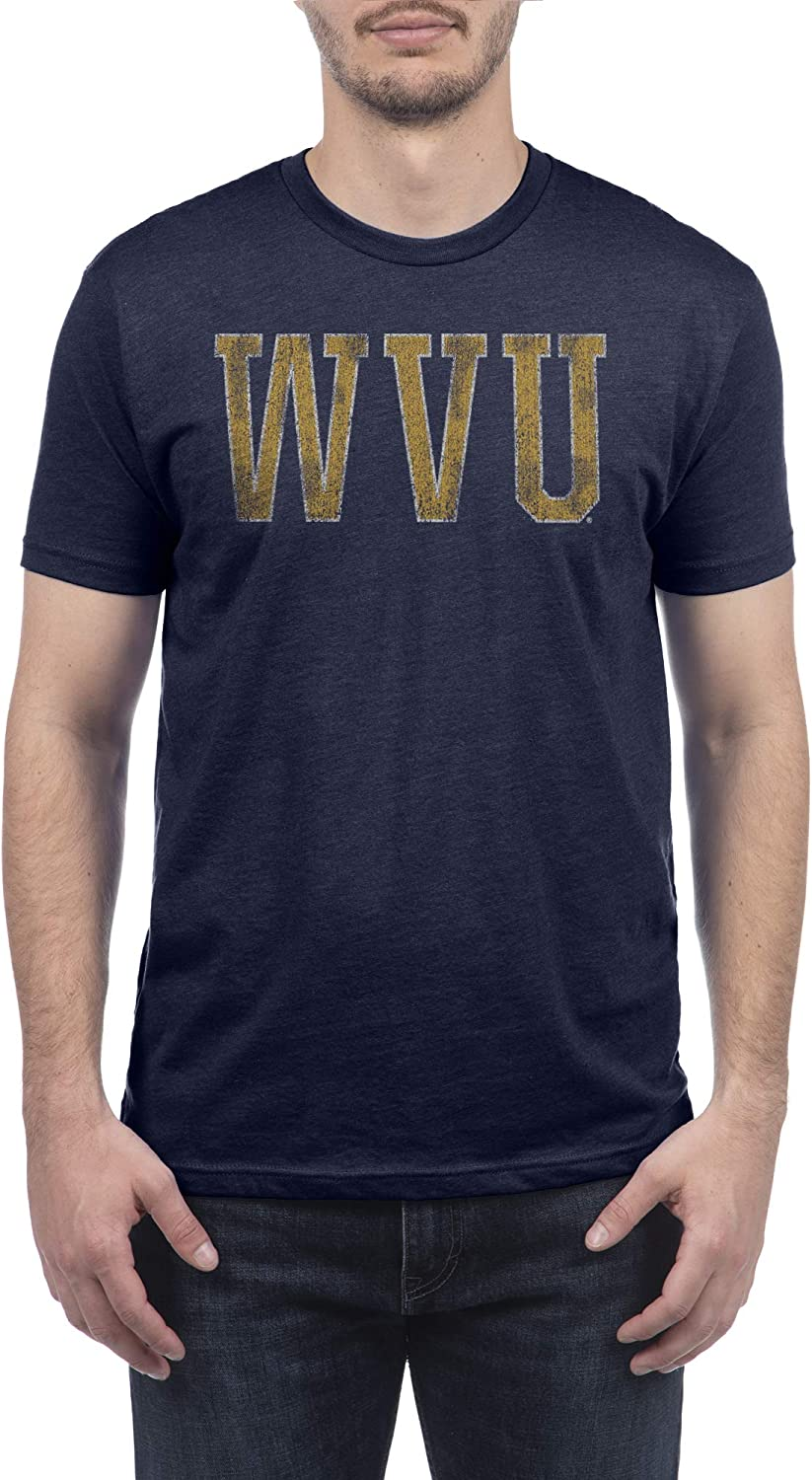 Top of the World NCAA Mens Modern Fit Premium Dual Blend Short Sleeve Team Color Distressed Icon Tee