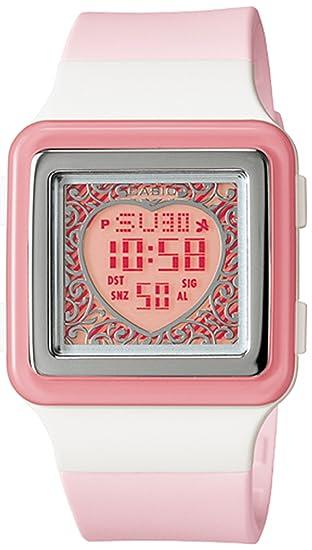 Casio LDF21 - Reloj de pulsera mujer, resina, color rosa: Casio: Amazon.es: Relojes