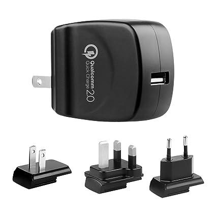 Amazon.com: lvsun ajuste rápido cargador para Samsung Galaxy ...