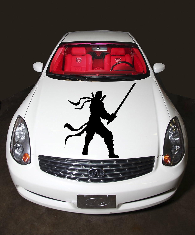 Amazon com car hood vinyl sticker samurai ninja with sword a414 home kitchen