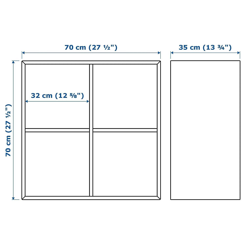 IKEA EKET Schrank mit vier F/ächern in wei/ß
