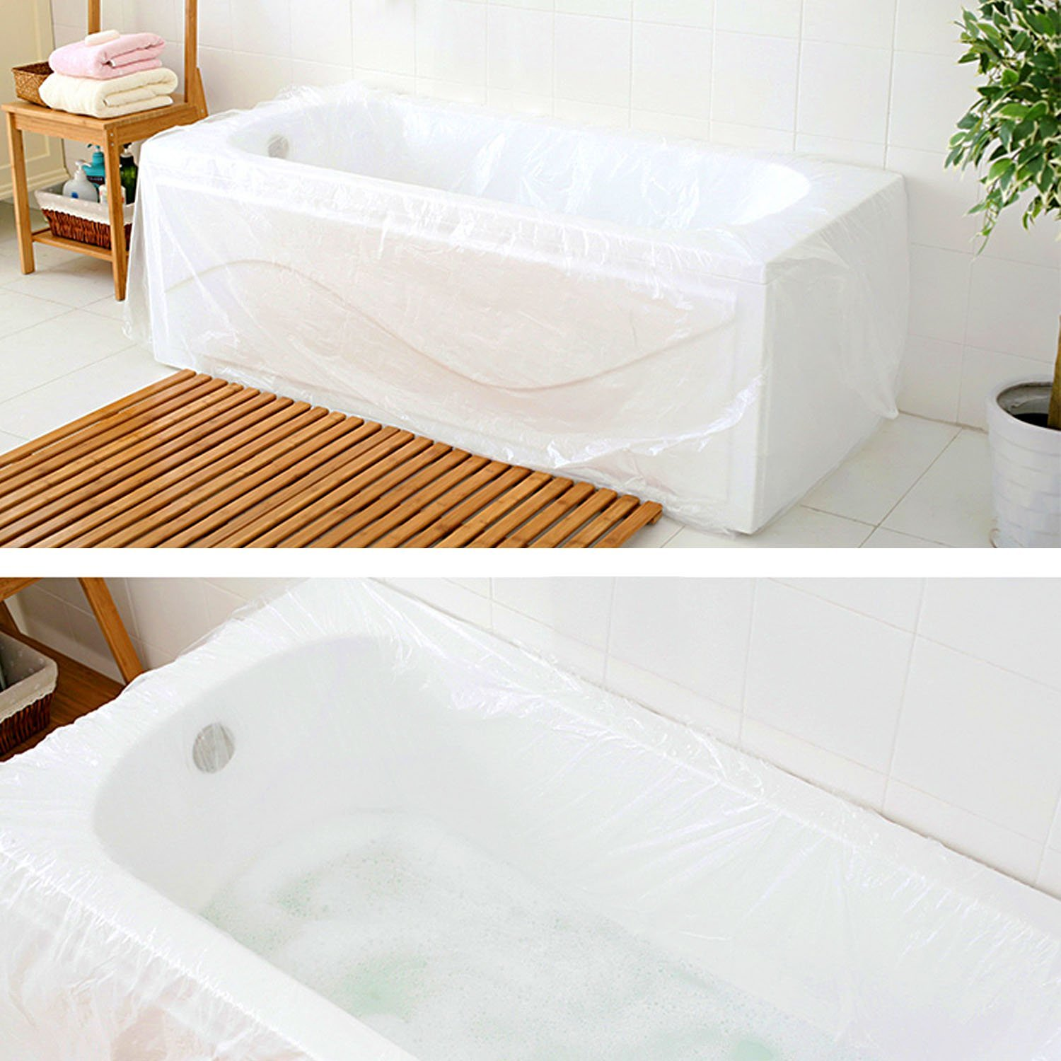 Amazon.com: WANPOOL Disposable Individual Bathtub Bag Film for ...
