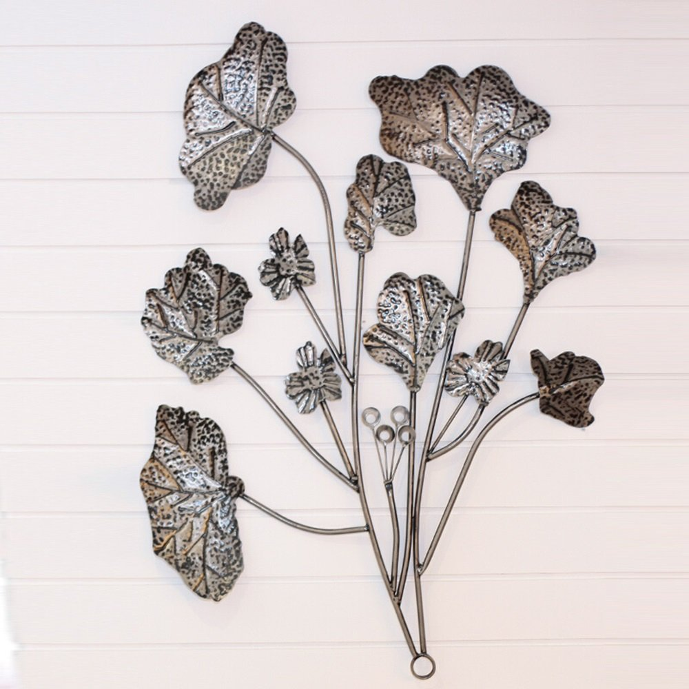 Chinese Lotus Background Wall Decorations / Wall Decorations / Wall Decorations / Home Living Room Wall Decorations / Stereo Iron Decorations / Hotel Tea House Wall Mounts / (100 100cm)