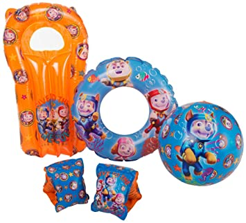 Childrens Character Swim Ring Armbands Inflatable Pool Holiday Accessories