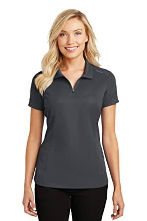 At Port L580 Women's Zip Mesh Ladies Polo Amazon Authority Pinpoint Y6x0UwT6