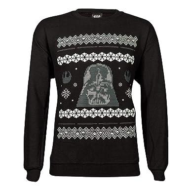 The London Knitwear Company Star Wars Darth Vader Black Unisex Christmas Jumper Medium: Amazon.es: Ropa y accesorios