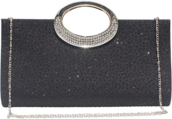 Selighting Womens Rhinestones Crystal Evening Bags Clutches Formal Wedding Clutch Purse Prom Cocktail Party Handbags