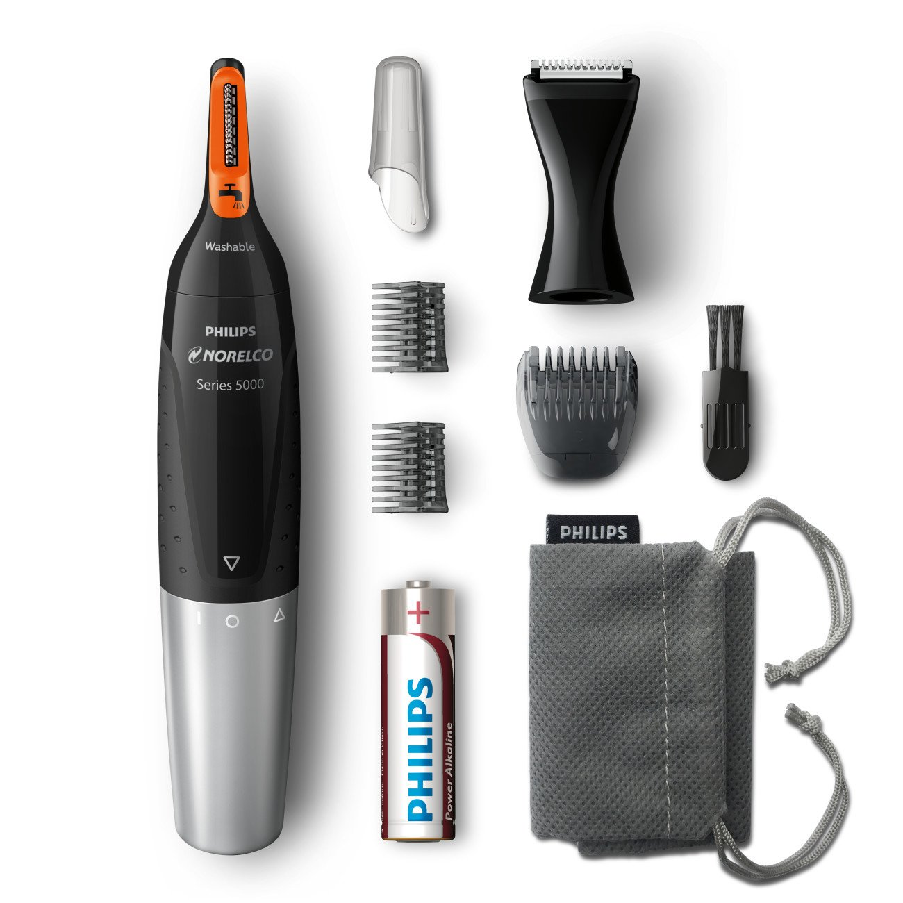 Philips Norelco Nose Hair Trimmer 5100, NT5175/42, Washable Mens Precision Groomer for Nose, Ears, Eyebrows, Neck, and Sideburns by Philips Norelco