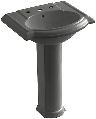 KOHLER K 2286 8 58 Devonshire Pedestal Bathroom Sink With 8u0026quot; Centers