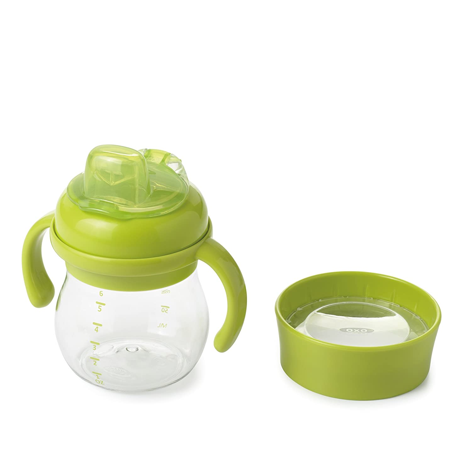 OXO Tot Transitions Soft Spout Training Cup Set, Green/6 Ounce 6194000