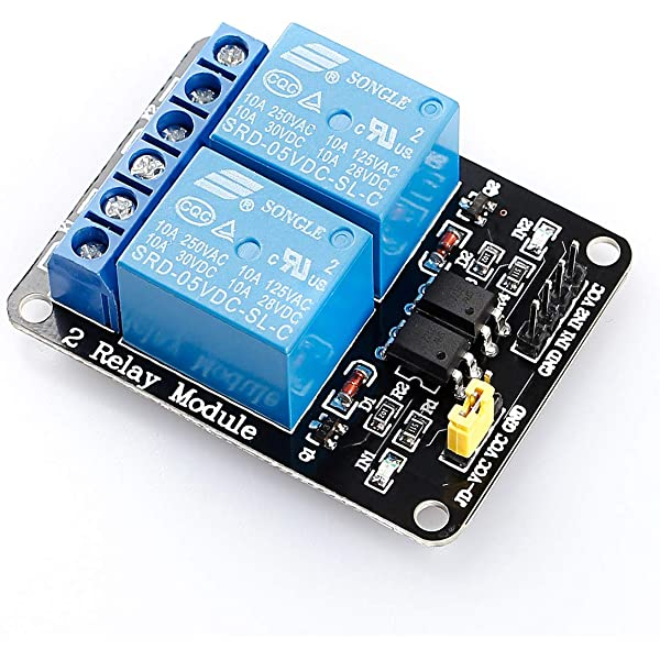 Details about  /10pcs 2 Channel 5V Relay Module Board with Optocoupler JQC-3FF-S-Z for Arduino