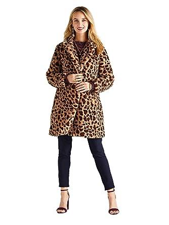 96459868a917e YUMI Oversized Leopard Print Coat  Amazon.co.uk  Clothing