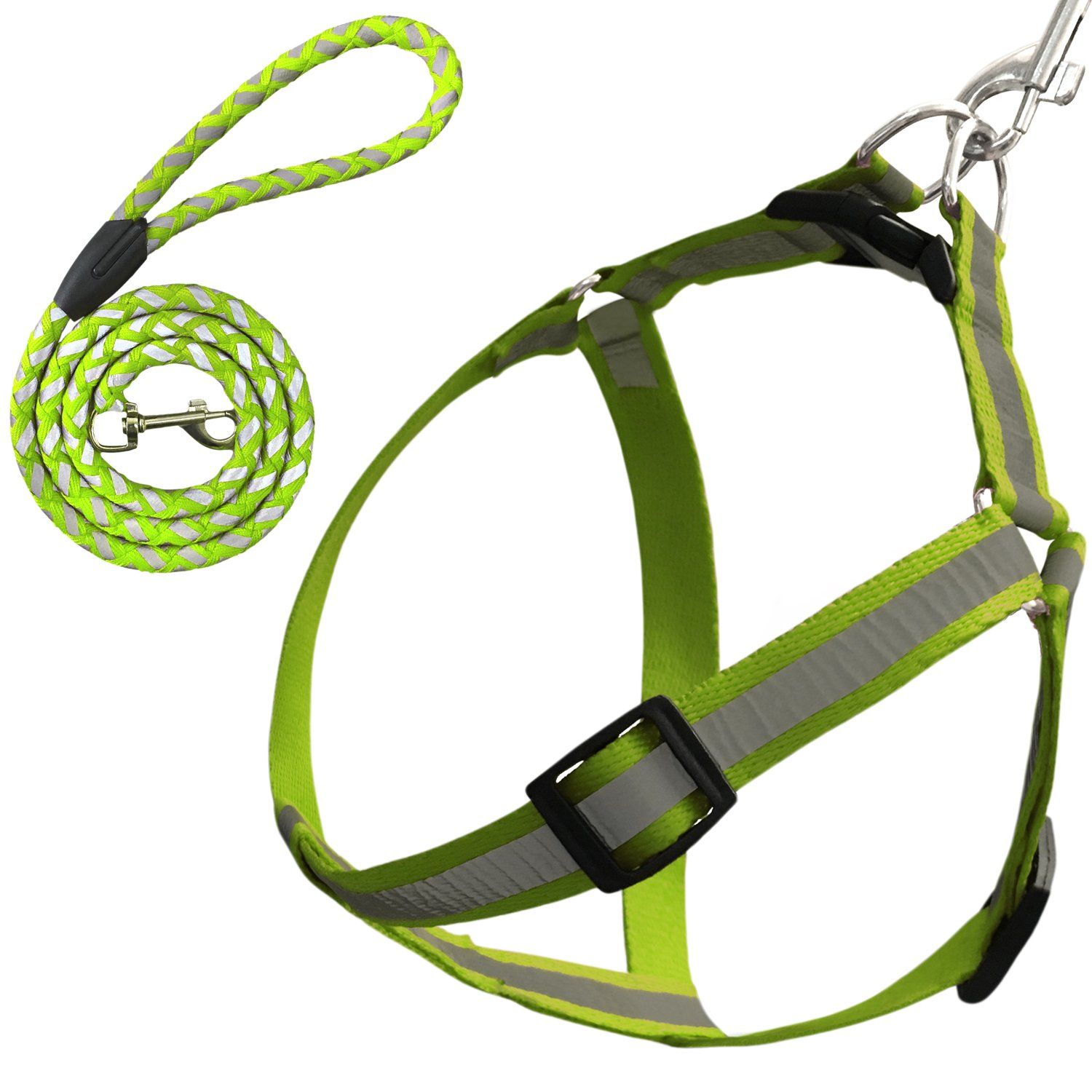 Green L Green L Zelten Dog Leash Harness Adjustable & Durable Leash Set & Heavy Duty Reflector Dog Leash Collar for Small, Medium and Large Dog, Perfect for Daily Training Walking Running (L, Green)
