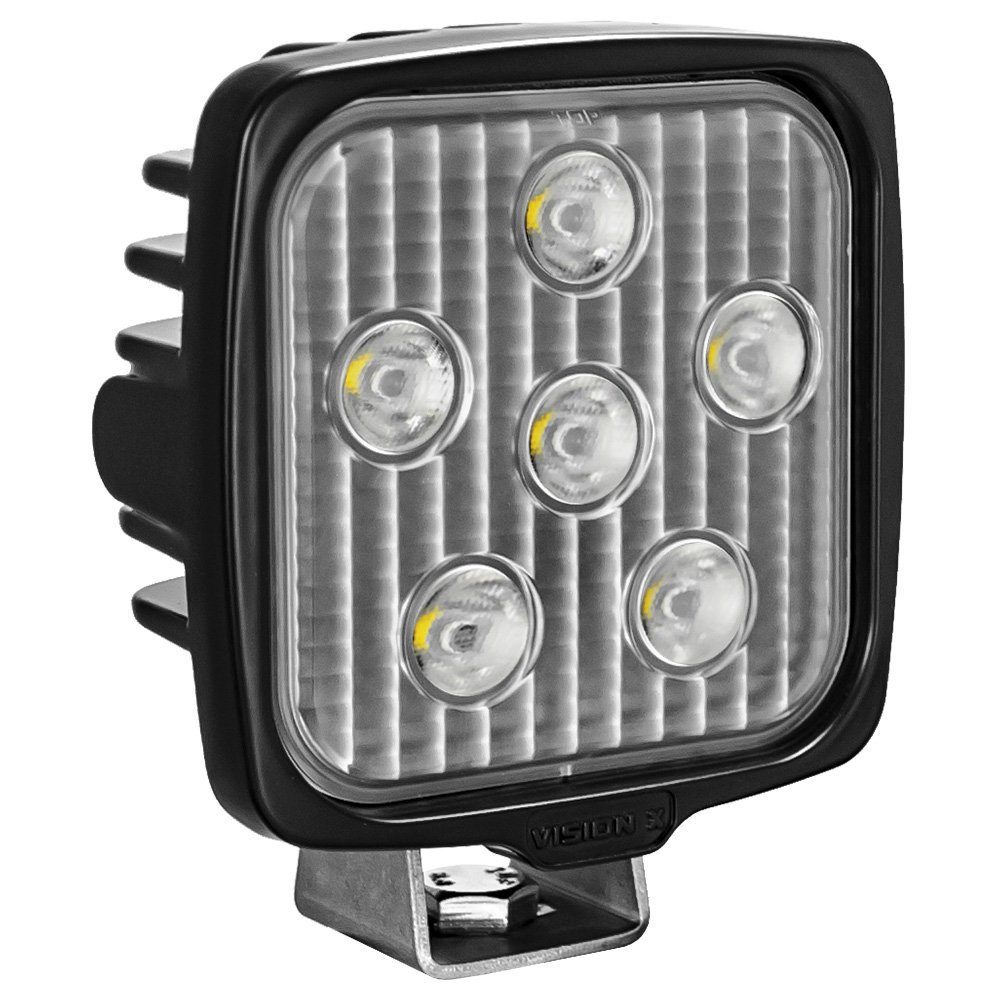 Vision X Lighting VWS050640 One Size VL- Series Work Light (Square/Six 5-WATT LEDS/40 Degree Flood Pattern/Deutsch Connector)