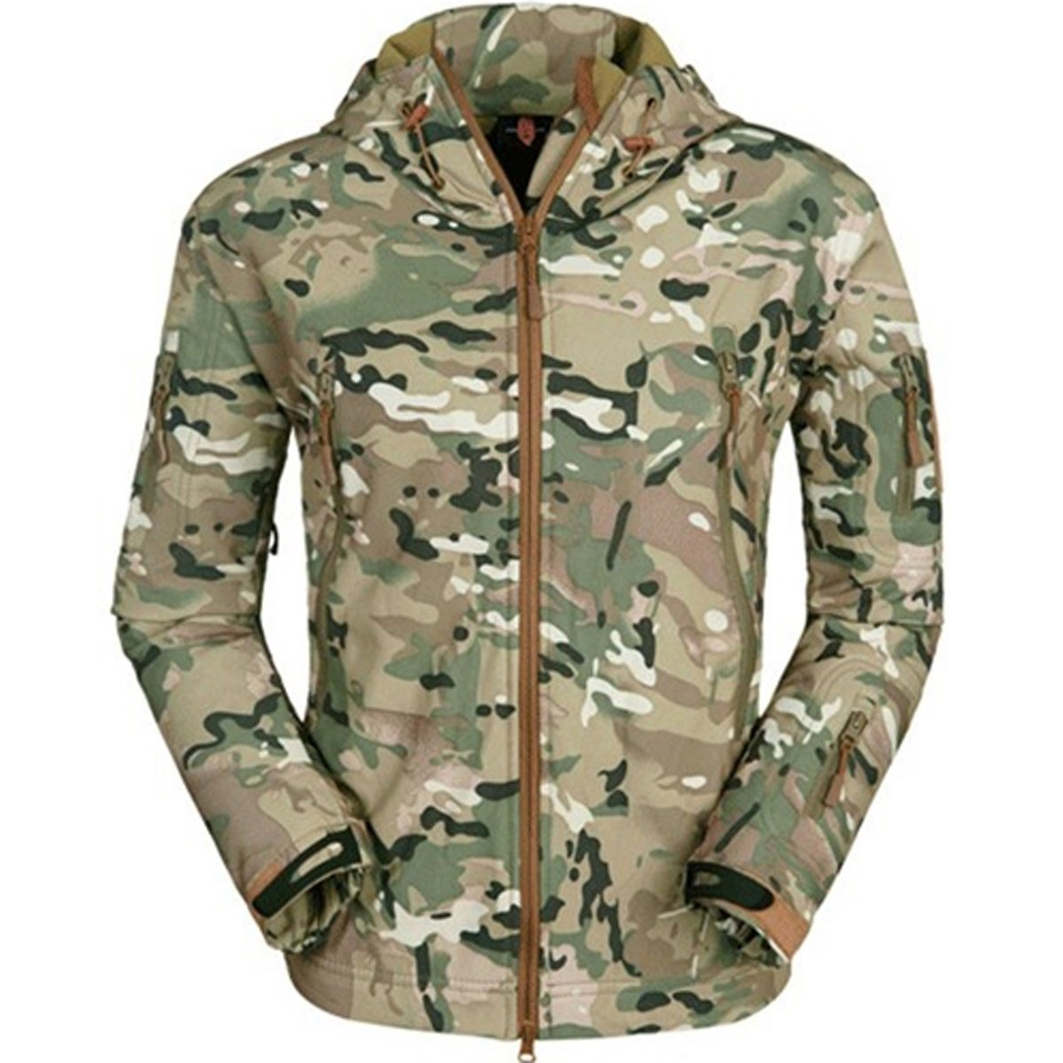 Eglemall Men's Outdoor Hunting Soft Shell Waterproof Tactical Fleece Jackets (XXX-Large, CP) by Eglemall